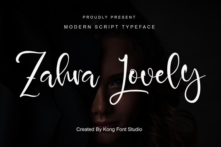 Zahra Lovely Font website image