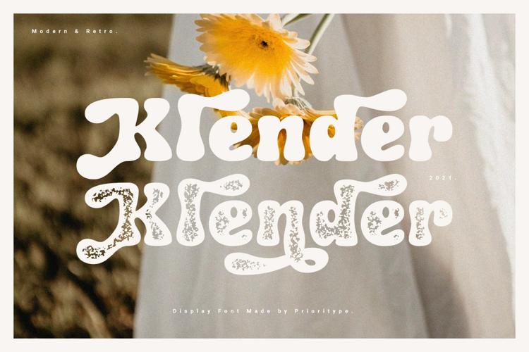 Klender Font website image