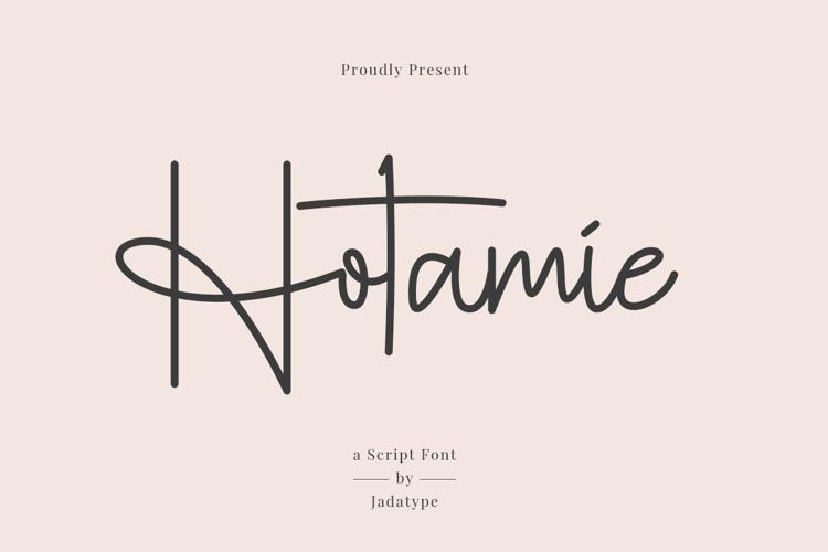 Hotamie Font website image