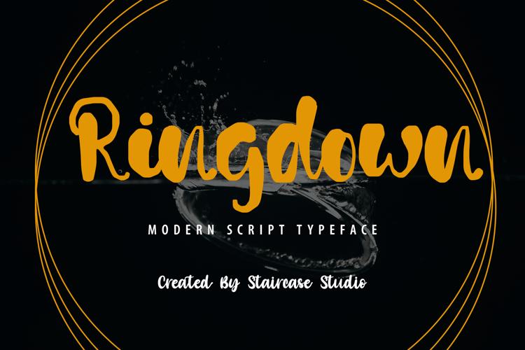 Ringdown Font website image